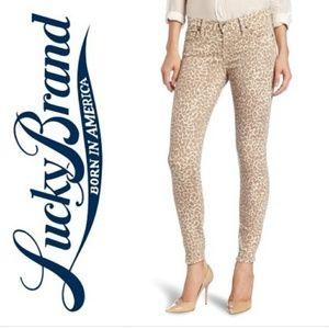 Lucky Brand Sz 26 Legend Sofia Cheetah Print Jeans
